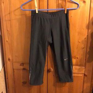 Nike gray capris with draw sting size xs